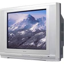 flat screen tube television