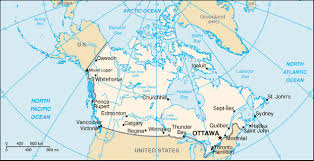 picture map of canada
