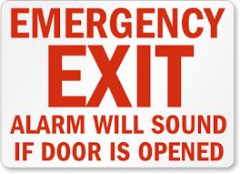 emergency exit alarms