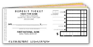 deposit ticket