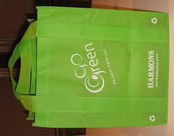 green reusable bags