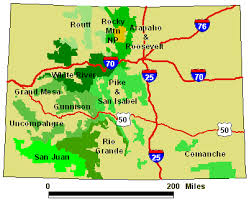 colorado national forest map