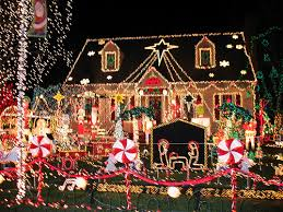 christmas lights houses
