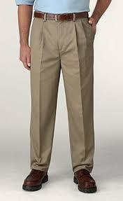 pleated khakis