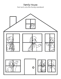 picture of a house to color