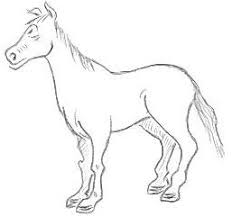 horse drawings for kids