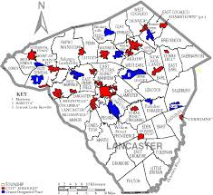lancaster county map