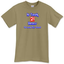 21st birthday tee shirts