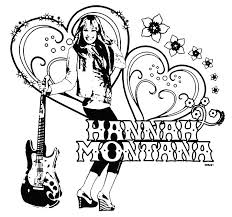 hannah montana coloring in pages