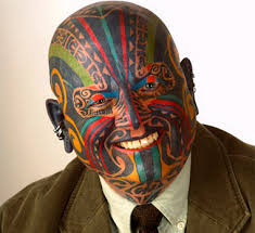 tattoo on face