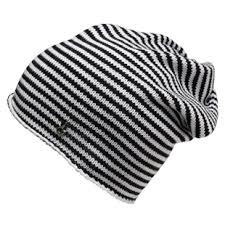 black and white beanie