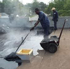 hot tar roofing