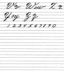 el abecedario en letra cursiva