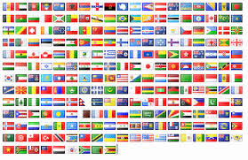 country flags and names