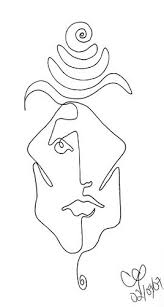 line drawings of faces