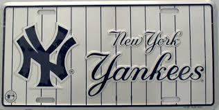 new york yankees license plates