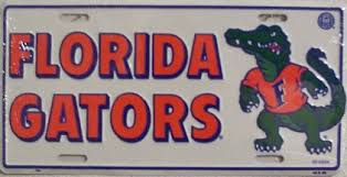 gators license plate
