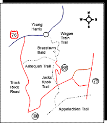 brasstown bald map