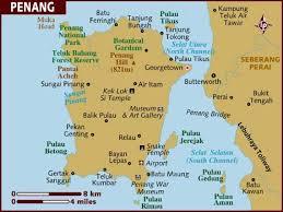 malaysia penang map