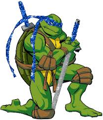 blue teenage mutant ninja turtle