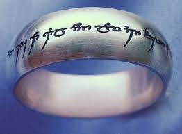 lord of the rings silver ring