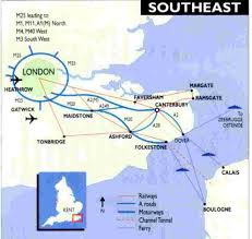 rail map south east england