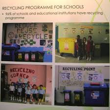 school recycling containers