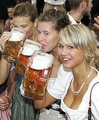 german beer garden girl