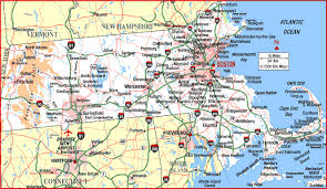 map of the massachusetts