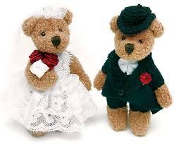 miniature bride and groom