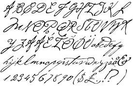 cursive tattoo font