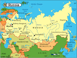 google map of russia