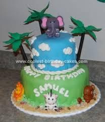 safari animal cakes