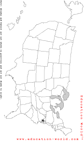 blank outline map of united states