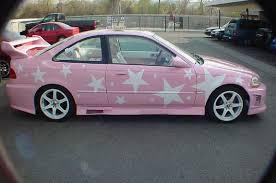 pink car graphics