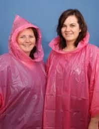 pink poncho