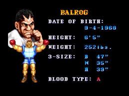 balrog street fighter 2