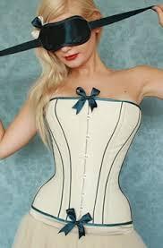 cream corsets