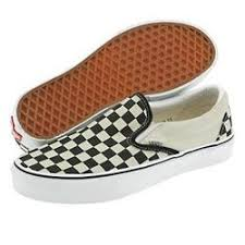 black and white check shoes