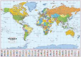 map of the world with scale
