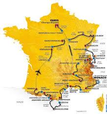map of tour de france
