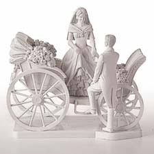 carriage cake toppers