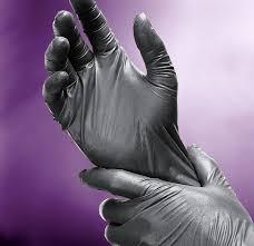 long black latex gloves