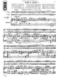 piano music score