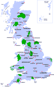 map of national parks in the uk