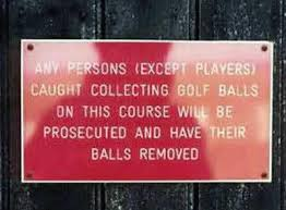 funny golf signs