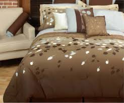 brown bed comforter
