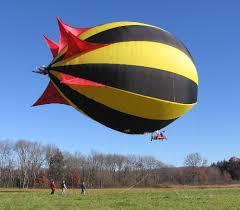 flying blimp
