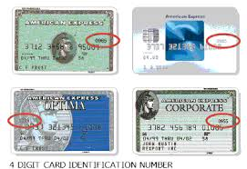 credit card identification number