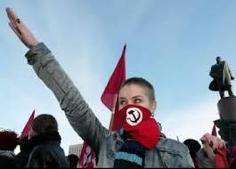 Jóvenes comunistas en Moscú. Impresionante. Nazbol883